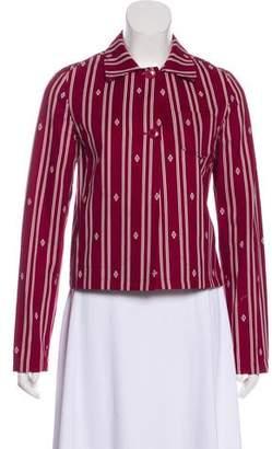 Miu Miu Printed Long Sleeve Blazer