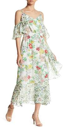 Nanette Lepore NANETTE Cold Shoulder Floral Midi Dress
