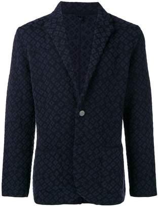 Lardini patterned suit jacket