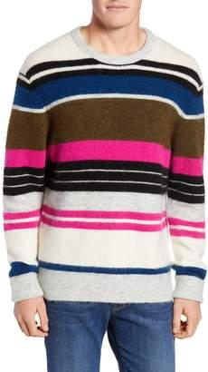 Frame Classic Fit Stripe Fuzzy Sweater