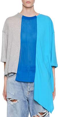 Unravel Vertical-Asymmetric Hybrid T-Shirt
