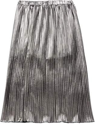 Diesel Girls Pleated Metallic Skirt