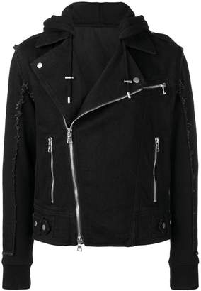 Balmain fringed biker jacket