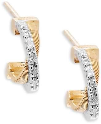 Marco Bicego Women's Diamond & 18K Yellow Gold Hoop Earrings