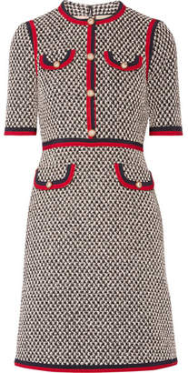Gucci - Grosgrain-trimmed Cotton-blend Tweed Mini Dress - Black $2,980 thestylecure.com