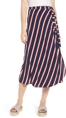 BP Stripe Midi Wrap Skirt