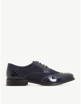 Dune Foxxy leather and suede lace up brogues