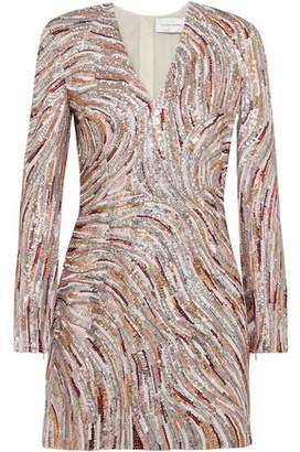 Murad Zuhair Sequined Crepe De Chine Mini Dress
