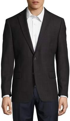 Calvin Klein Men's Check Wool Jacket