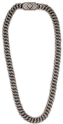 Bottega VenetaBottega Veneta Intrecciato Woven Chain Necklace