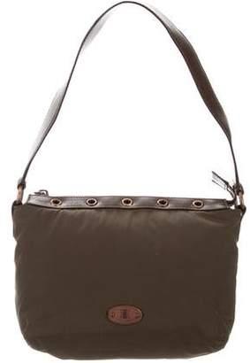 Celine Leather-Trimmed Nylon Bag