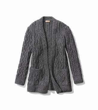 Michael Kors Hand-Knit Tweed Cashmere Cardigan