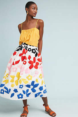 Mara Hoffman Cecelia Embroidered Midi Skirt