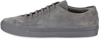 Common Projects Men's Low-Top Suede Sneaker, Gray