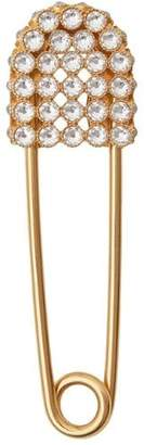 Burberry Crystal Gold-plated Kilt Pin