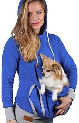 Susenstone Unisex Kangaroo Pet Dog Cat Holder Pouch Pocket Cotton Blouse Hoodies Top T-shirt (L, )