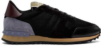 Valentino Black Garavani Mesh Rockrunner Sneakers