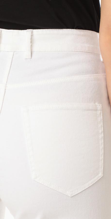 La Vie Rebecca Taylor Eyelet High Rise Straight Jeans 3