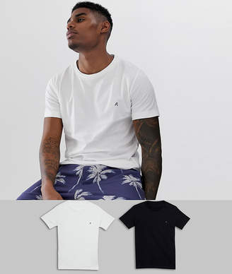 Replay t-shirt 2 pack in black and white