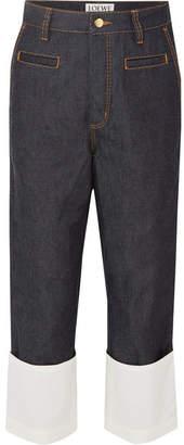 Loewe Fisherman Gauze-trimmed Jeans - Indigo