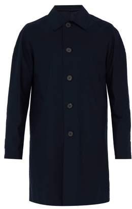 Harris Wharf London Single Breasted Technical Overcoat - Mens - Dark Blue