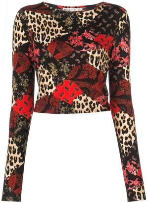 Alice + Olivia Alice+Olivia Delaina multi-print sweatshirt