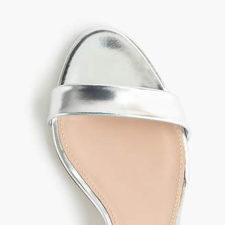 J.Crew Mirror metallic kitten-heel sandals