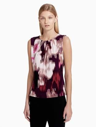Calvin Klein matte jersey floral print cami
