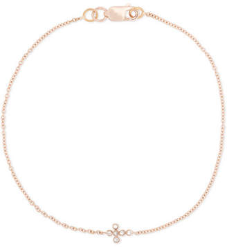 Ileana Makri Mini Cross 18-karat Rose Gold Diamond Bracelet