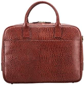 Maxwell Scott Bags Men S Faux Crocodile Leather Soft Briefcase In Tan