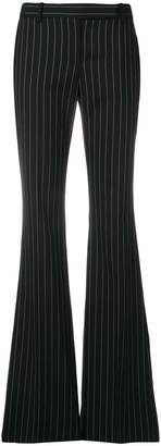 Alexander McQueen flared pinstripe trousers