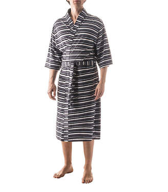 RESIDENCE Residence 3/4 Sleeve Robe-Big and Tall