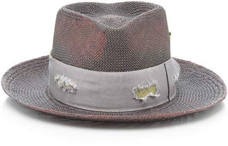 Nick Fouquet Exclusive Domain Straw Fedora Size: 7 1/8
