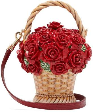 Dolce & Gabbana Basket Of Roses Resin Clutch - Womens - Red Multi