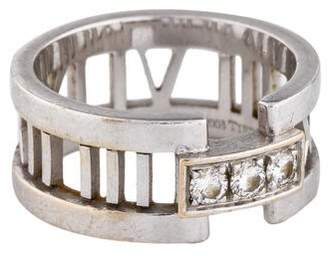 Tiffany & Co. 18K Diamond Atlas Open Ring