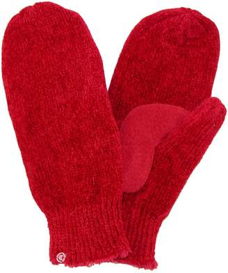 Isotoner totes Womens Chenille with Suede Palm Mitten