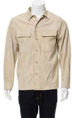 Theory Button-Up Suede Jacket