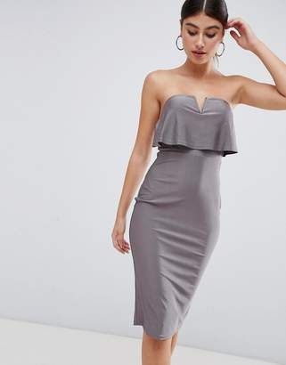 AX Paris bardot pencil midi dress