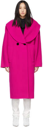 Marc Jacobs Pink Wool Shawl Collar Coat