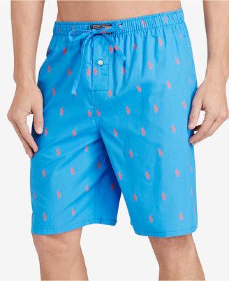 Polo Ralph Lauren Men's Woven Pony Player Sleep Shorts $32 thestylecure.com