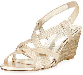 Adrianna Papell Elastic Stretch Wedge Sandal