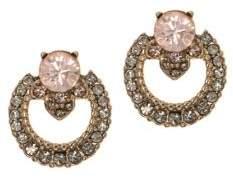 Marchesa Crystal Open Button Earrings