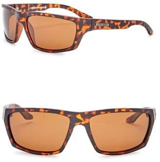 Steve Madden 61mm Wrap Polarized Acetate Frame Sunglasses