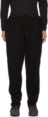The Viridi-anne Black Wool Lounge Pants