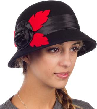 c83235f773f Cloche Sakkas 40041M Farrah Vintage Style Wool Hat