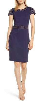 MICHAEL Michael Kors Ponte Stud Sheath Dress