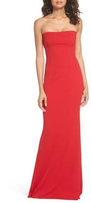 Katie May Mary Kate Strapless Cutout Back Gown
