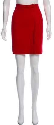 Giorgio Armani Wool Mini Skirt
