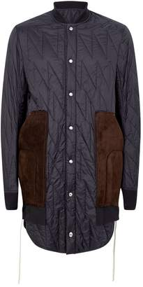 Leather Pocket Quilted Coat
