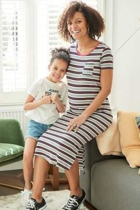 Next Womens Pink Stripe Maternity Bodycon Dress